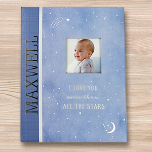 Personalized Wish Upon a Star Memory Book | Personalized Baby Book