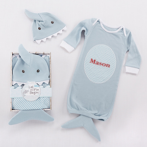 Personalized Shark Outfit Set for Baby | Personalized Baby Gifts