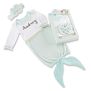 Mermaid Personalized Baby Outfit Set | Unique Baby Gifts