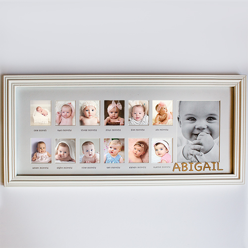 Personalized My First Year Frame | Personalized Baby Gifts