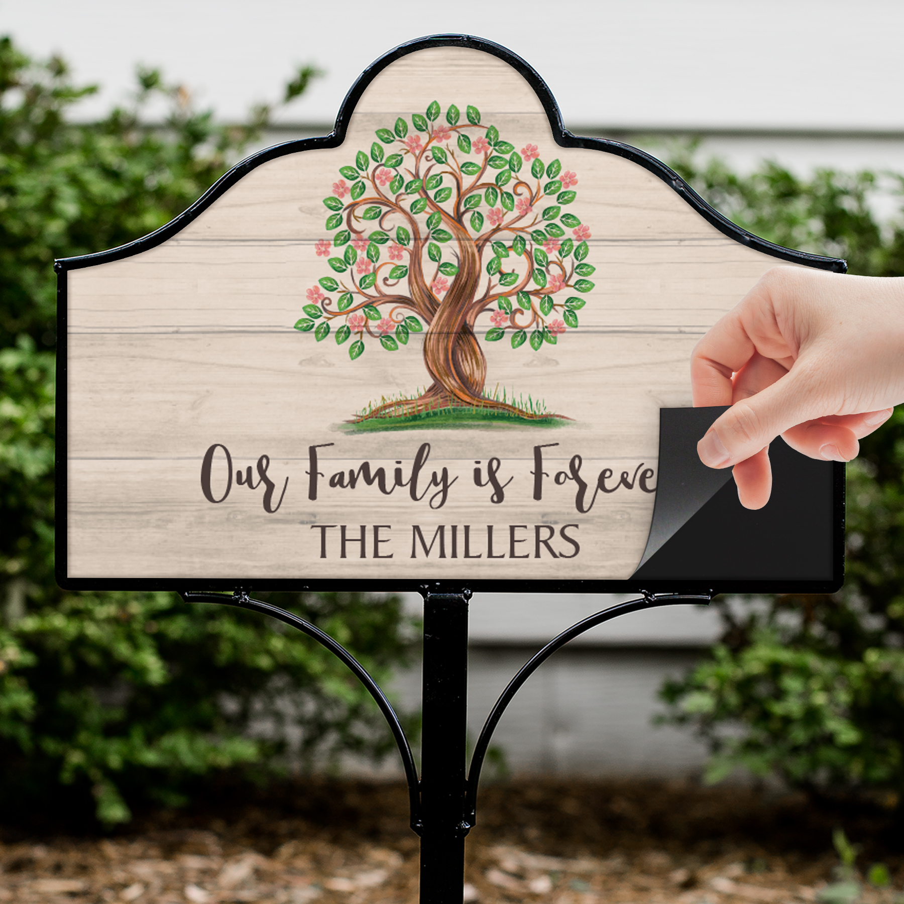 Personalized Our Family is Forever Magnetic Sign Set | Personalized Yard Signs