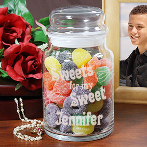 Engraved Sweetest Day Goodies Jar Gift