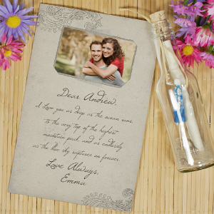Personalized Photo Message In A Bottle