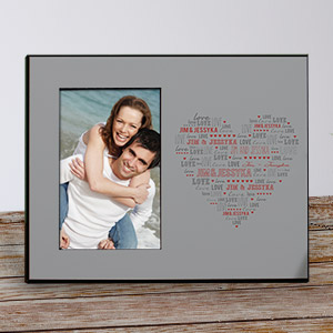 Personalized Heart Printed Picture Frame 473376