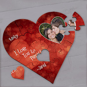 Personalized Photo I Love You Heart Puzzle