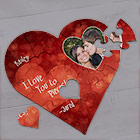 Personalized I Love You Jigsaw Puzzle