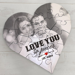 Personalized Heart Photo Puzzle | Personalized Photo Puzzle