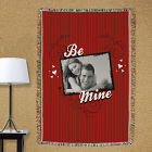Personalized Be Mine Photo Tapestry Trow Blanket 83029505