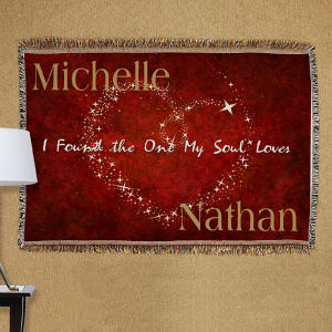 Personalized The One My Soul Loves Tapestry Throw Blanket