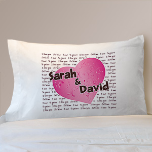 I Love You Personalized Pillowcase | Valentine Pillow Cases