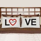Love Personalized Pillowcase Set