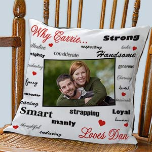 Personalized Why I Love You Photo Pillow