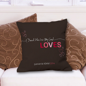 Personalized Romantic Love Throw Pillow