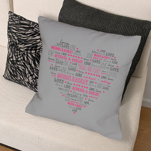 Personalized Heart Throw Pillow