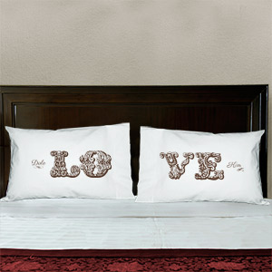 Personalized Love Pillowcase Set