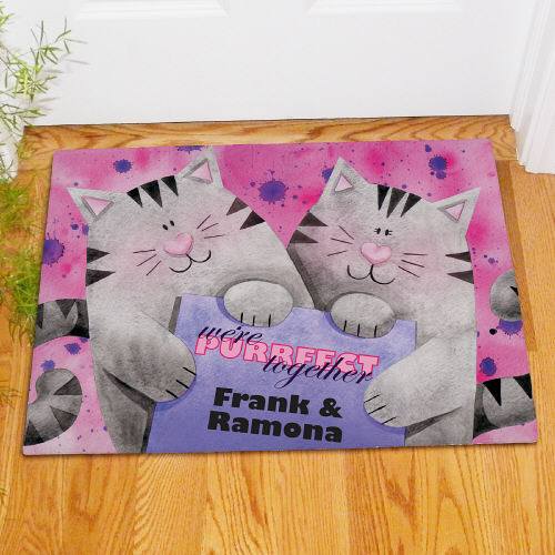 Personalized Purrfect Together Doormat 83152417