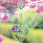 Engraved Couples Glass Heart Sun Catcher 849794HSC