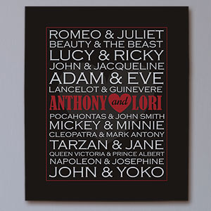 Personalized Famous Couples Canvas