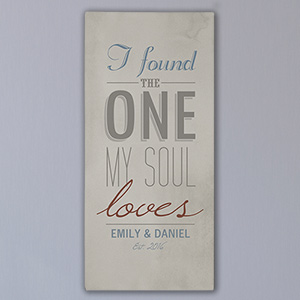 Personalized The One My Soul Loves Wall Canvas