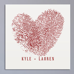 Couples Fingerprints Wall Canvas | Personalized Valentines Canvas Prints
