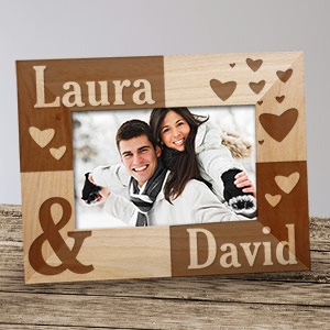Just the Two of Us Wood Picture Frame | Personalized Valentines Frames