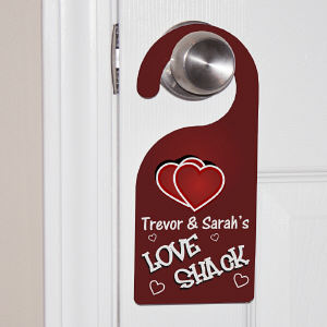 Personalized Love Shack Door Hanger