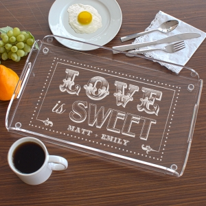 Engraved Couples Serving Tray