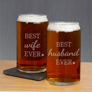 Personalized Best Ever Beer Can Glass