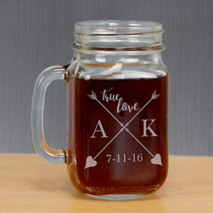 Personalized True Love Mason Jar