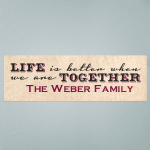 Life Together Wall Sign | Personalized Wall Signs