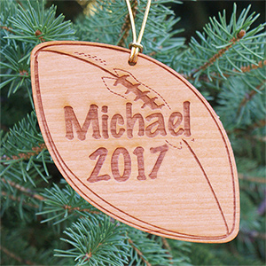 Personalized Football Christmas Ornament