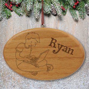 Engraved Laptop Ornament | Personalized Christmas Ornaments For Kids