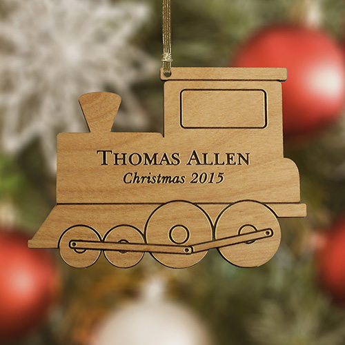 Personalized Train Wooden Ornament