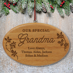 Engraved Special Family Wood Ornament W96292