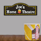 Home Theatre Personalized Wall Sign