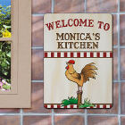 Rooster Welcome Personalized Wall Sign