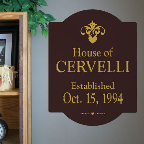 Our House Personalized Wall Sign | Personalized Wall Art