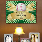Personalized Baseball Coach Wall Sign