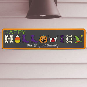 Personalized Halloween Wall Sign