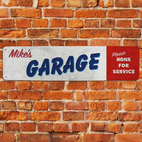 Personalized Honk for Service Garage Sign | Mancave Gifts