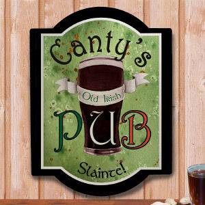Personalized Old Irish Pub Wall Sign 638495