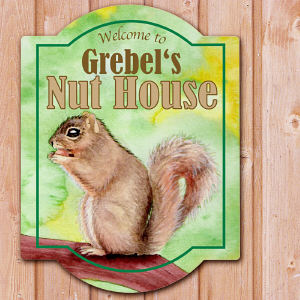 Personalized Nut House Wall Sign