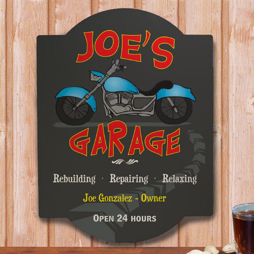 My Garage Personalized Wall Sign | Personalized Gifts for Him