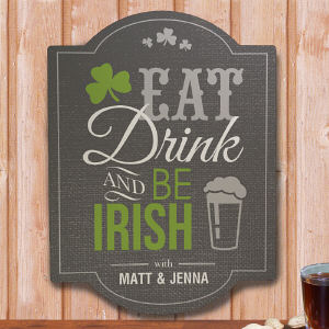 Personalized Irish Welcome Wall Sign