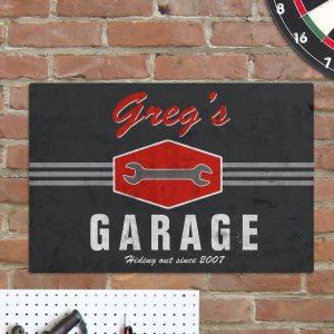 Personalized Garage Wall Sign | Mancave Gifts