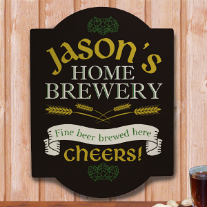 Personalized Home Brewery Wall Sign 676715
