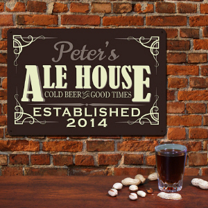 Ale House Personalized Wall Sign