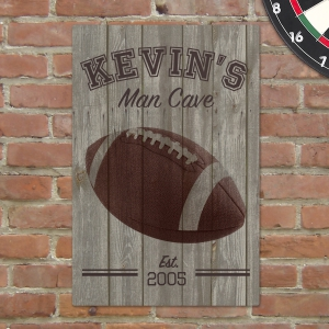 Personalized Football Man Cave Sign