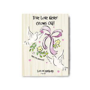 True Love Never Grows Old Wall Canvas