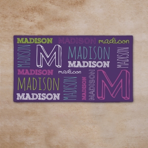 Custom Kids Name Canvas